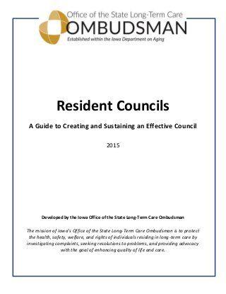 Resident Council Meeting Agenda Resident