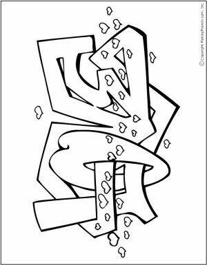 Graffiti Valentinstag Malvorlagen Free Kids Crafts Malvorlagen Graffiti Malvorlagen Fur Kinder
