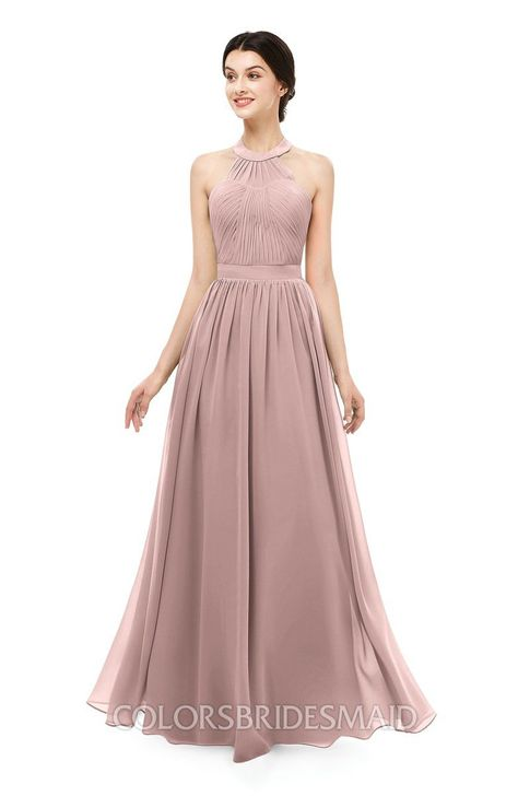 ccbaee460779 ColsBM Marley Bridesmaid Dresses Floor Length Illusion Sleeveless Ruching  Romantic A-line #colsbm #bridesmaids #bridesmaiddress #weddings