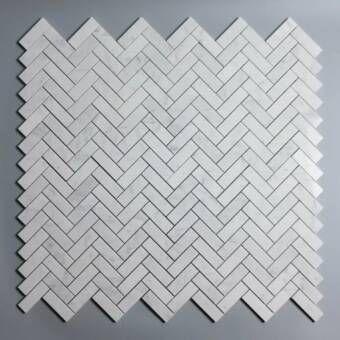 Herringbone 1 X 3 Marble Mosaic Wall Floor Tile In 2020 Wall Tiles Design Mosaic Stone Mosaic