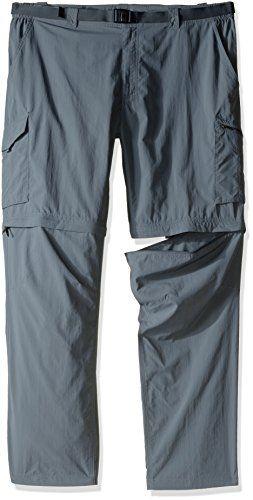32 Size Ash Convertible Ridge 54 X Mens Silver Grey Pants Columbia SYv0q0