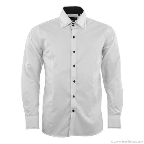 Beau design vente professionnelle énorme réduction Chemise blanche homme Fiorentino - Dégriff'Stock Misez sur ...