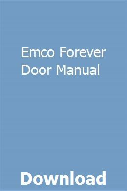 Emco Forever Door Manual Study Guide Systems Biology Writing Lessons