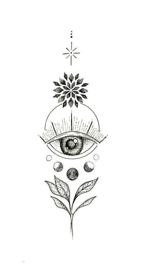 Third Eye Tattoos, All Seeing Eye Tattoo, 3rd Eye Tattoo, Tattoo Circle, Boho Tattoos, Body Art Tattoos, Easy Tattoos, Modern Tattoos, Feminine Tattoos