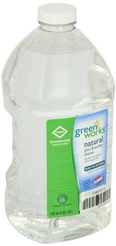 Green Works 00460 Commercial Solutions Glass and Surface Cleaner, 64 fl oz Refill by Clorox. Save 41 Off!. $6.52. Green Works glass and surface cleaner commercial solutions refill combines naturally derived ingredients with the streak free cleaning power. Delivers a streak free shine on glass, mirrors and stainless steel. Use on wide variety of surfaces. Contains no ammonia. Removes tough dirt and residue for a streak-free shine. Green Works glass and surface cleaner contains 95 perce...