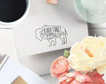 Buffalo Love Buffalo Lover Buffalo Logo Buffalo Lovely Etsy Return Address Stamp Wedding Wedding Address Stamp Custom Address Stamp