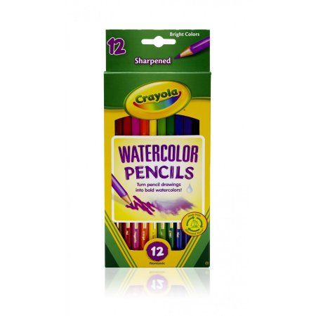 Crayola Watercolor Colored Pencils 12 Count And Colors