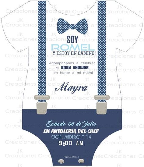 DIGITAL Invitation baby shower, Bodysuit, baby Romper, Bebe, Blue, personalized, baby hipster