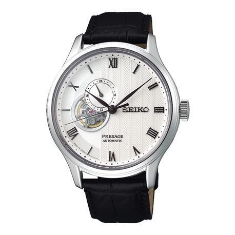 Reloj automático SEIKO Presage. SSA379J1 Reloj automático Seiko para  caballero con diseño elegante en acero inoxidable y correa de cuero negro. a148e2c65afb