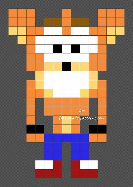 Crash free Perler PixelArt beads pattern 13x19 | Videogames