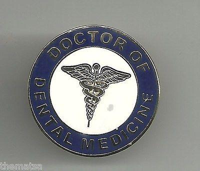 Doctor Of Dental Medicine Round Caduceus Medical Badge Pin Ebay