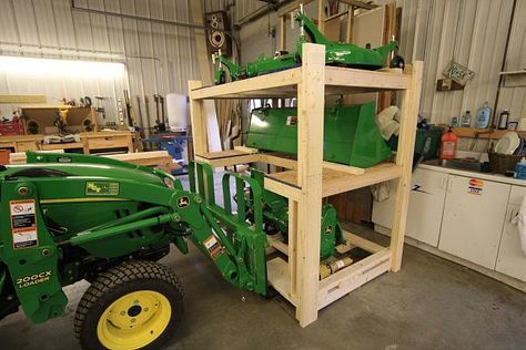 Image Result For Tractor Attachment Storage Ideas Tractor
