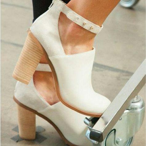 Cream Ankle Boot | Color: Cream | Size: 5