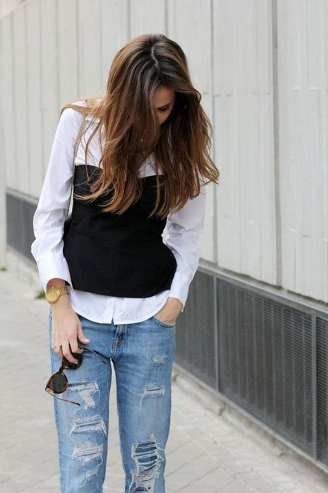 shirt and tube top