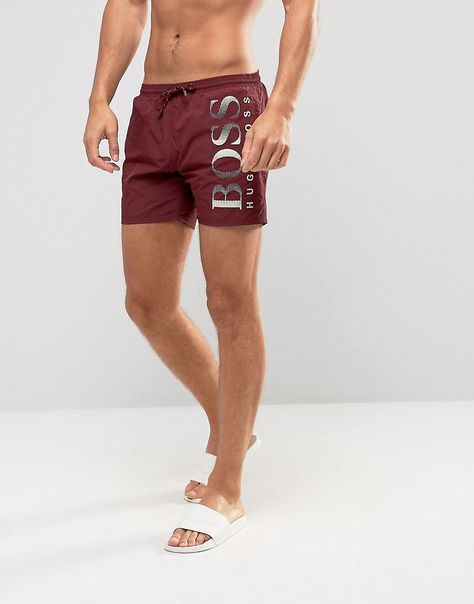 Hugo Boss Mens Octopus Swim Trunk