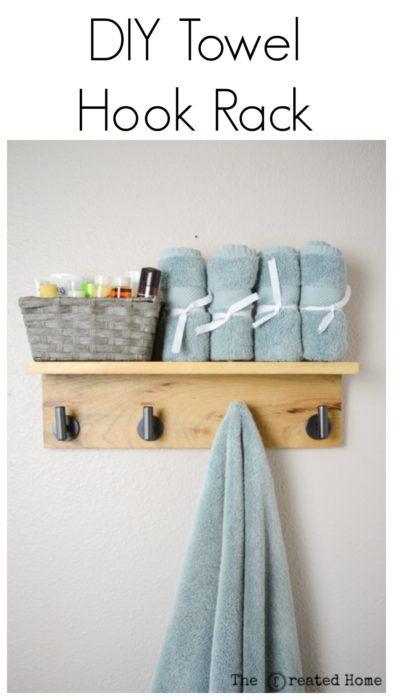 Diy Wooden Towel Hook Rack Tutorial Towel Rack Bathroom Diy Towel Hooks Diy Towel Rack