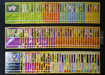 77 cards JAPANESE Pokemon SM8 Complete Common Uncommon Set NM//M