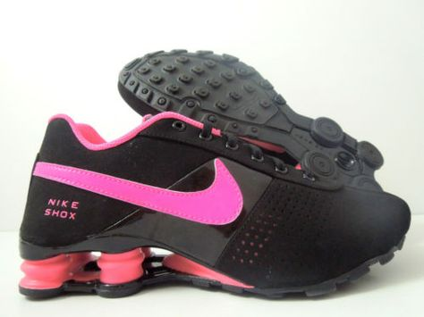 cheap for discount e48f5 c97b9 NIKE SHOX DELIVER (GS) BLACK-PINK SZ 6Y-WOMENS SZ 7.5 318145-002