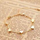 1Stück Gold Kette Fußkettchen Herz Armband Barfuß Sandale Strand Fuß Schmuck OX #Modeschmuckstücke