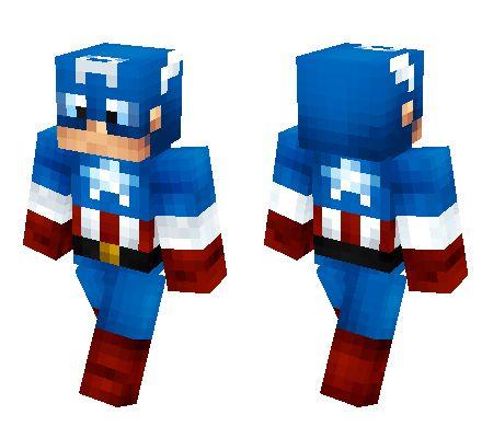 Captain America 2 Minecraft Skin Download Minecraft Skins Spiderman Minecraft Skins Cool Minecraft Skins