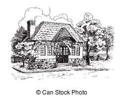Old Farmhouse Vector Clip Art Royalty Free 112 Old Farmhouse House Clipart Old Farmhouse Clipart Black And White