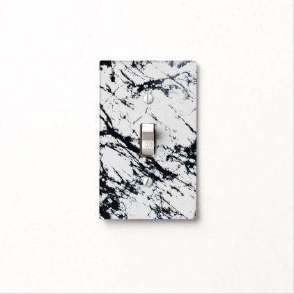 Modern Unique White Black Marble Stone Pattern Light Switch Cover Zazzle Com Light Switch Covers Stone Pattern Switch Covers