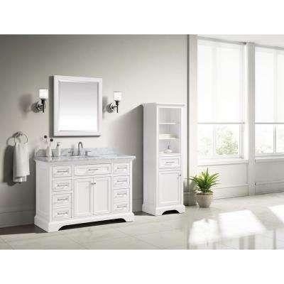 47 49 In Vanities With Tops Bathroom Vanities The Home Depot Marble Vanity Tops White Sink Small Bathroom Decor