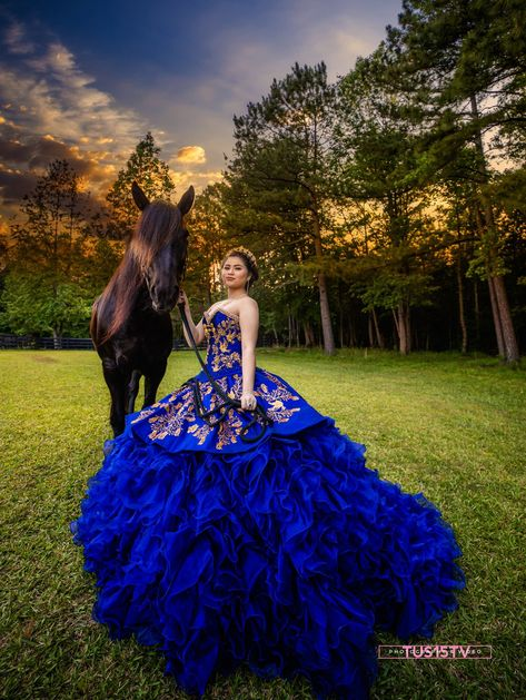 Mexican Quinceanera Dresses, Neon Prom Dresses, Quinceanera Themes, Royal Blue Dresses, Sparkly Dresses, Blue Ball Gowns, Ball Gown Dresses, 15 Dresses, Quince Dresses Mexican