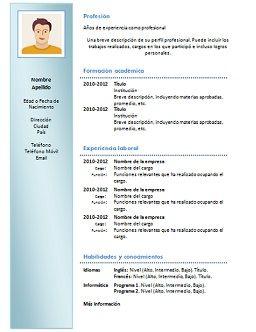 Modelo De Curriculum Vitae En Word Para Editar Gratis Modelos De Curriculum Vitae Formato De Curriculum Vitae Curriculum Vitae Gratis
