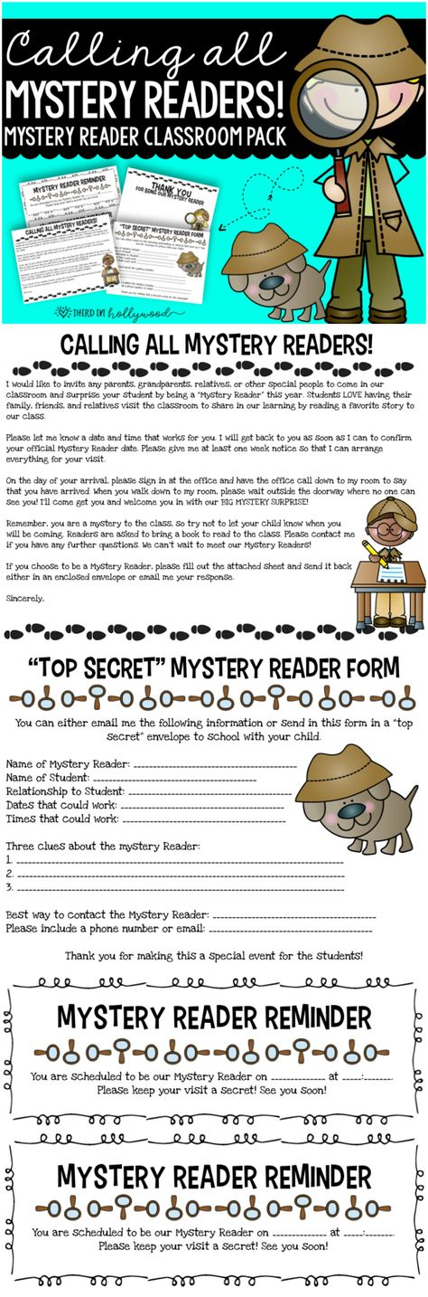 Clutter-Free Classroom Managing Mystery Readers School Pinterest - one week notice