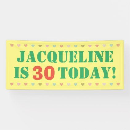 80s Abstract Birthday Personalized Banner
