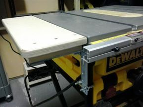 Dw745 Left Side Extension Table Table Saw Extension Dewalt Table Extension