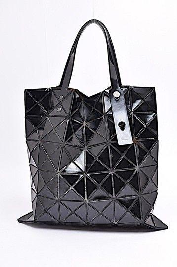 Issey Miyake Bag Pleats Please Baobao Poly Geometric Black Vinyl Tote Issey Miyake Bag Fashion Tote Issey Miyake