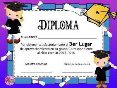 como hacer un diploma para grado de preescolar online ile ilgili görsel sonucu