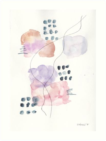 180805 Subtle Confidence 3 Watercolour Abstract Art Prints