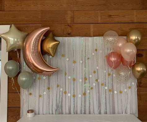 Twinkle Little Star Balloons Twinkle Little Star Baby Shower by HullaballoonsPar. - Twinkle Little Star Balloons Twinkle Little Star Baby Shower by HullaballoonsParty on Etsy – - Baby Girl Shower Themes, Girl Baby Shower Decorations, Baby Shower Fun, Shower Party, Baby Shower Green, Baby Shower For Girls, Baby Shower Sweets, Ideas For Baby Shower, Centerpieces For Baby Shower
