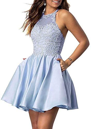 CharmingBridal Pretty A Line V Neck Girl Homecoming Dress Short Prom Dress