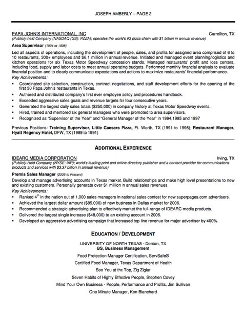 Bakery Manager Resume Sample - http\/\/resumesdesign\/bakery - restaurant resumes