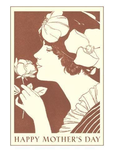 Happy Mothers Day Art Deco Lady Art Print Art Com Art Happy Mothers Day Art Deco Fashion