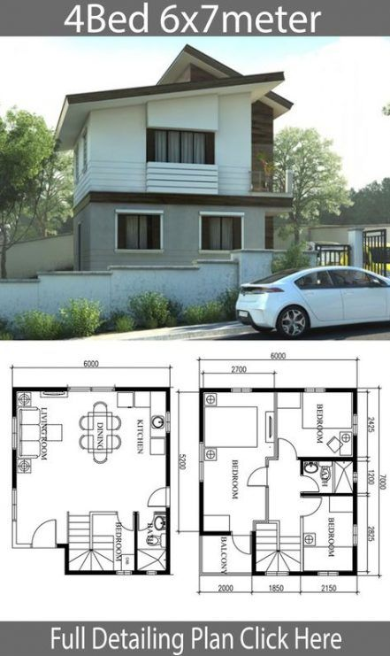 38 Trendy Ideas For Home Architecture Concept In 2020 2 Storey House Design Small House Design Home Design Plan Small house design 2 storey with floor plan