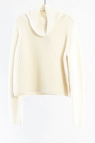 Cream Cropped Turtleneck Sweater by NLST | shopheist.com | NLST ...