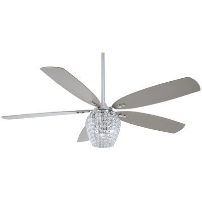 56 Bling 5 Blade Led Ceiling Fan With Remote Ventilateur
