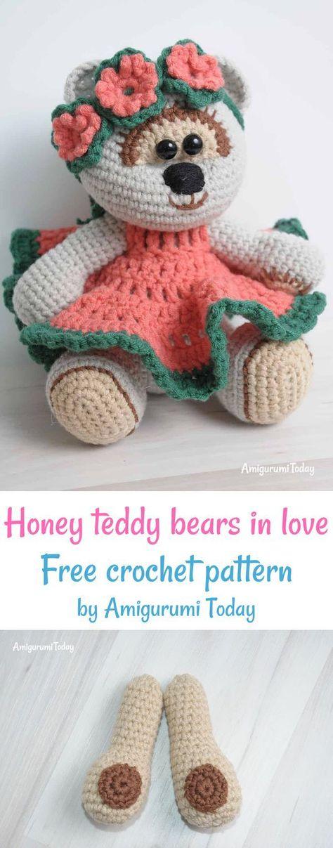 Crochet Bear PATTERN - Amigurumi Toy Tutorial - Little Teddy Bear ...   1207x474