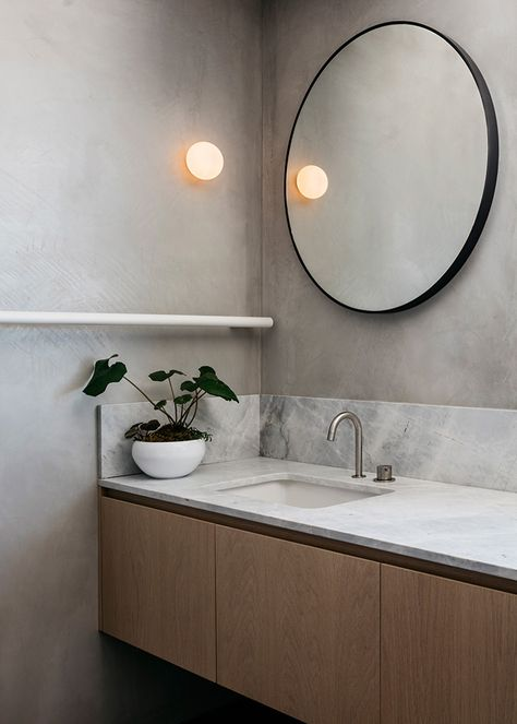 The New Nz Design Blog The Best Design From New Zealand And The World But Mainly Nz Modern Bathroom Design Round Mirror Bathroom Bathroom Interior