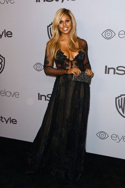 Actor Laverne Cox attends 19th Annual Post-Golden Globes Party hosted by Warner Bros. Pictures and InStyle.