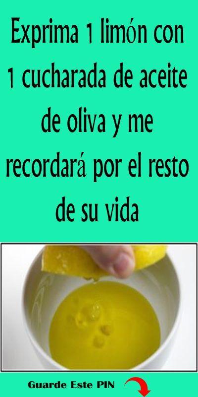 Exprima 1 Limon Con 1 Cucharada De Aceite De Oliva Y Me Re