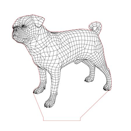 Pug Dog 2 3d Illusion Lamp Plan Vector File For Laser And Cnc 3bee Studio 3d Illusions 3d Illusion Lamp Illusions