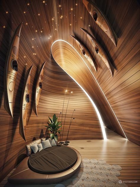 The Wave Villa is a concept design by Ukrainian architect Dmitriy Kuznietsoy in Bali, Indonesia in The exterior form and the interior spaces of the Architecture Paramétrique, Amazing Architecture, Computer Architecture, Interior Design Blogs, Interior Decorating, Casa Patio, Parametric Design, Cool Furniture, Grey Furniture