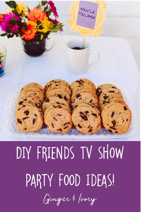 Friends TV Show Themed Party Food Ideas - Thanksgiving Wallpaper 30th Birthday Themes, Graduation Party Themes, Graduation Pics, 12th Birthday, Food Tv Shows, Bachelorette Party Food, Party Food Themes, Party Ideas, Festa Party