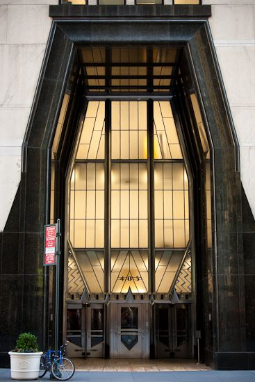 Chrysler Building Art Deco details.
